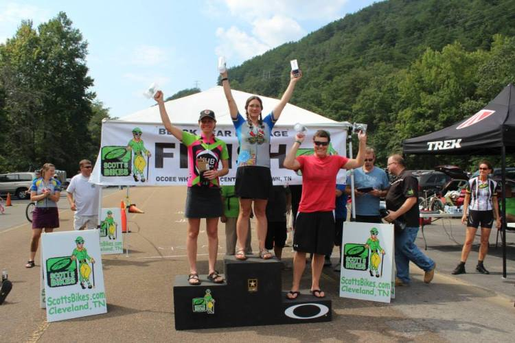 Noel wins her category at the 2013 Black Bear Rampage