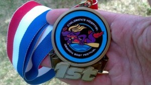 Tonya Chaffin's Dragon Boat race medal!