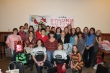 Group picture of the Velo Vixens at the Christmas Party 2013