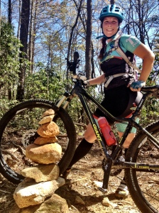 Veronica mountain biking at Bull Mountain